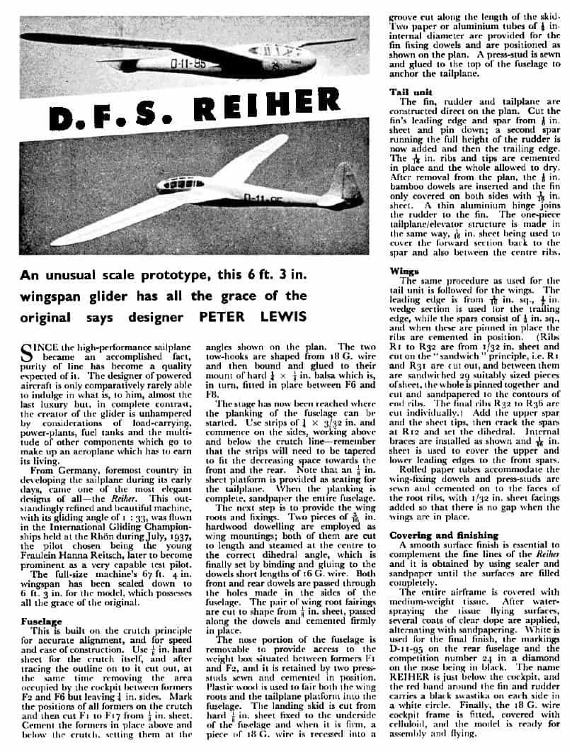 DFS Reiher 1959 Notes