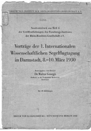ISTUS Vortrage 1930 s