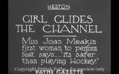 1934 Girl glides the channel