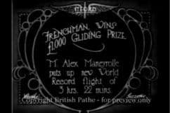 1922 Frenchman wins £1000 Pize