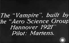 1922 Vampyr Wasserkuppe