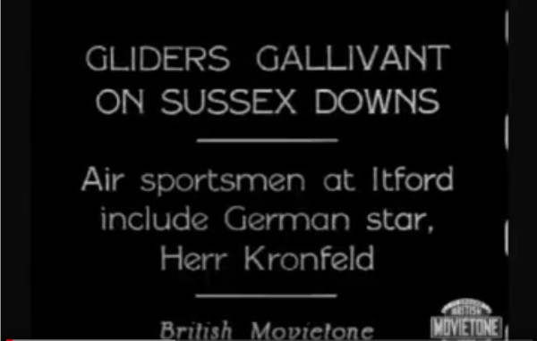 1930 Gliders on Sussex Downs