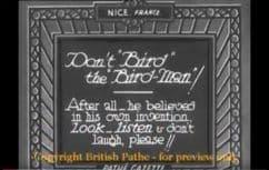1932 Don't bird the bird man