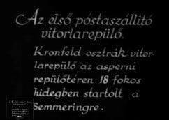 1933 Austria postal flight kronfeld