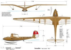 see adler 3 view drawing by vince cockett