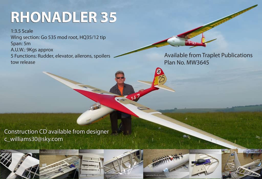 chris williams rhonadler 35 laser cut sailplanes